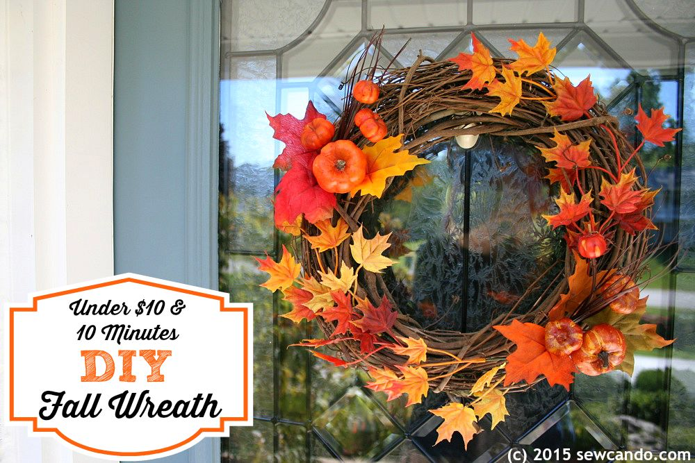 DIY Fall Wreath Under $10 & 10 Minutes