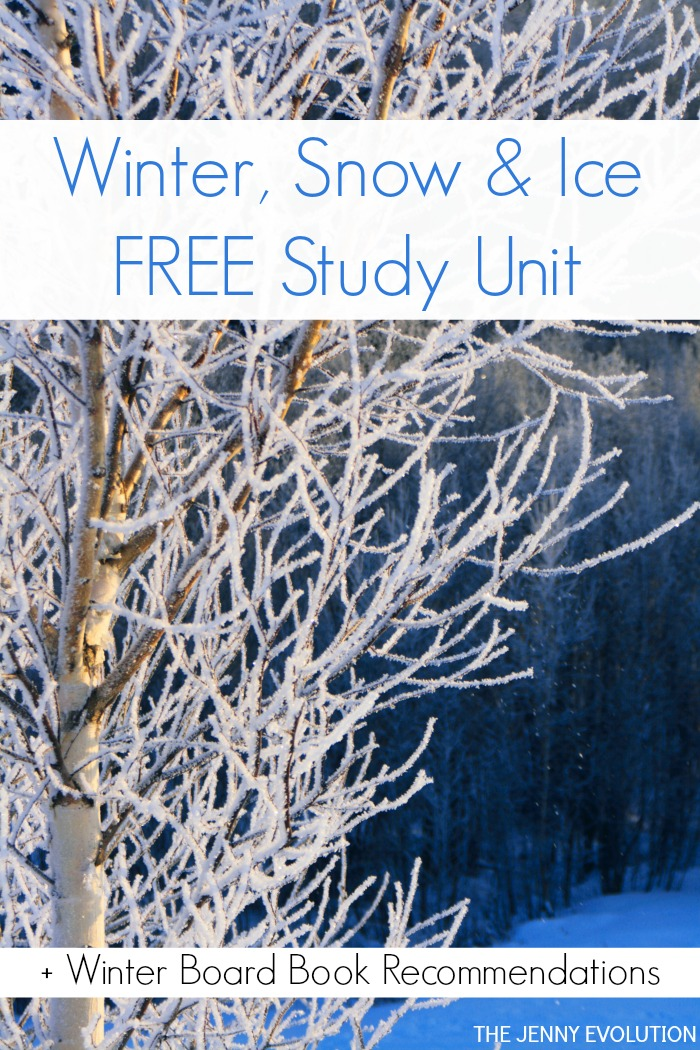 Winter Snow and Ice Unit Study + winter board books | Mommy Evolution