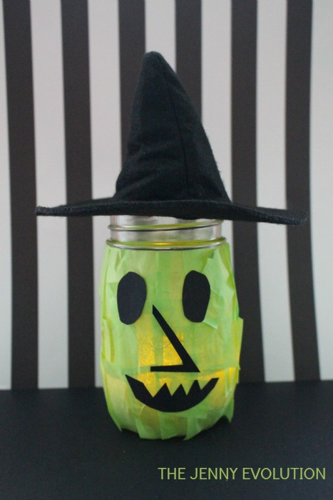Halloween Witch Mason Jar Craft for Kids | Mommy Evolution