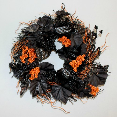 final orange and black wreath SQUARE