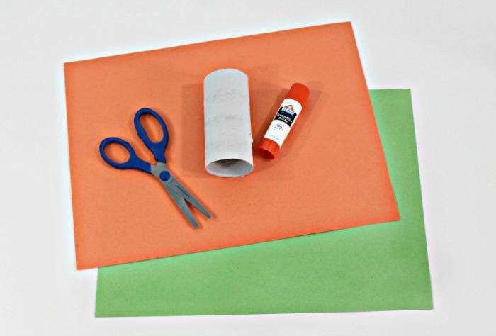 1 paper pumpkin craft for kids supplies pic