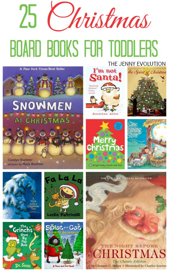 Christmas Board Books for Toddlers | The Jenny Evolution