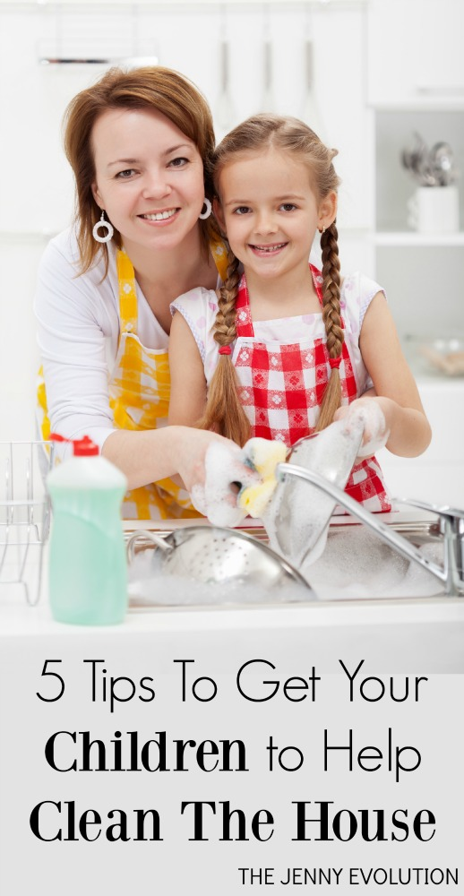 5 Tips To Get Your Children to Help Clean The House | The Jenny Evolution