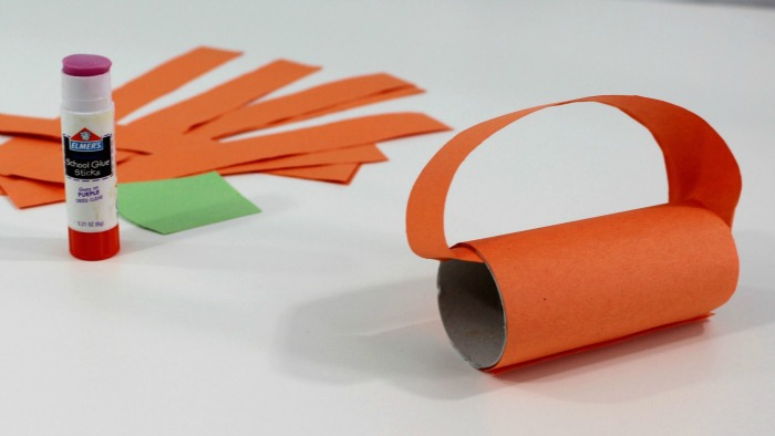 6 adding the strips of paper to the tube will look like this