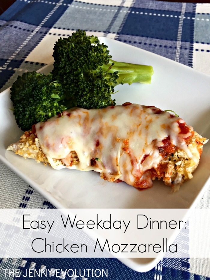 Chicken Mozzarella Easy Weekday Dinner Recipe | The Jenny Evolution