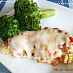 Chicken Mozzarella Recipe. The perfect weekday dinner! from The Jenny Evolution