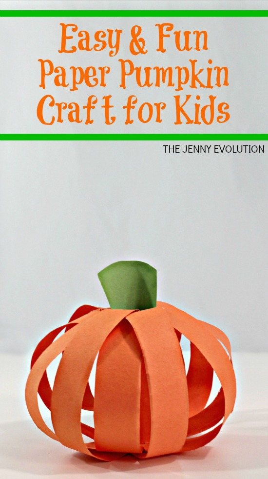 Easy & Fun Paper Pumpkin Craft for Kids