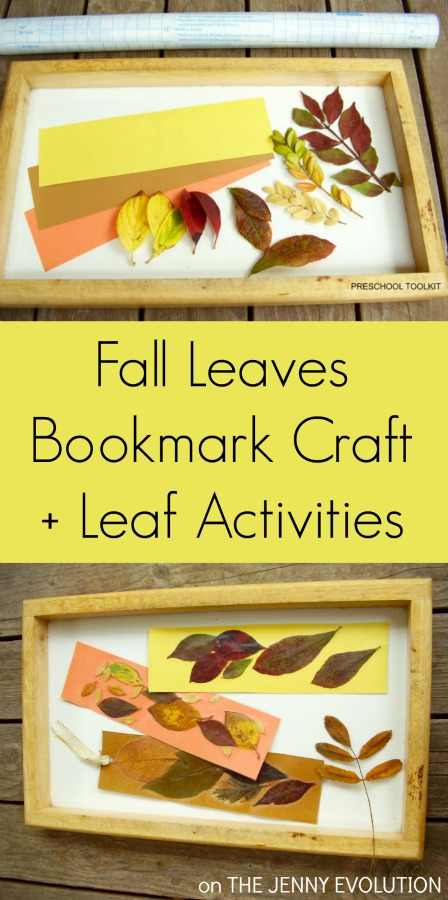 Fall Leaves Bookmark Craft + Leaf Activities for Kids | The Jenny Evolution