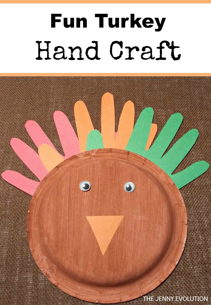 Fun Paper Plate Turkey Hand Craft for Toddlers (but I'm still doing it with my older kids) | The Jenny Evolution