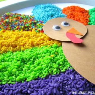 Thanksgiving Turkey Gratitude Sensory Bin