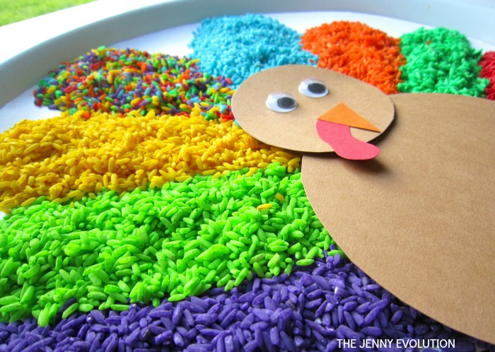 Gratitude Thanksgiving Sensory Bin Ready 7