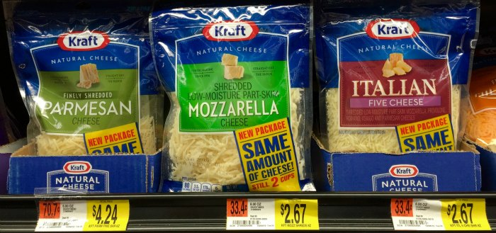 Kraft Shredded Cheese at Walmart