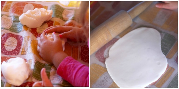 Making the baking soda clay