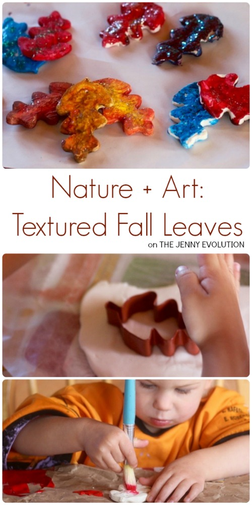 Nature and Art Textured Fall Leaves Craft | The Jenny Evolution