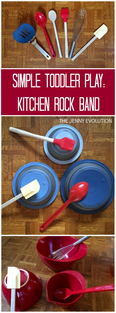 Simple Toddler Play Idea! Kitchen Rock Band | The Jenny Evolution