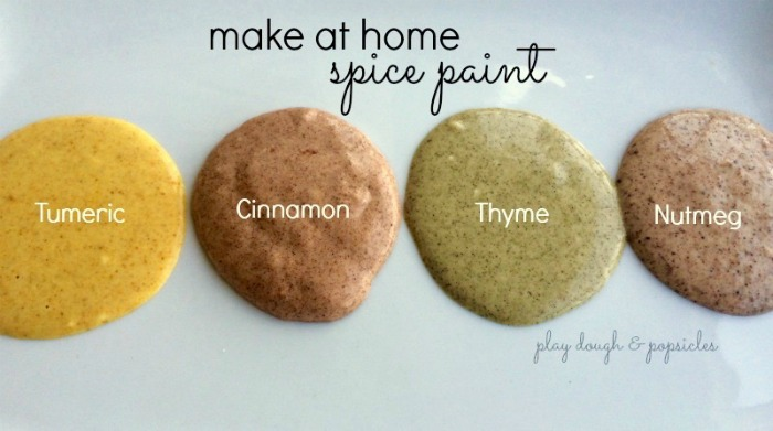 Spice paint Tumeric Cinnamon Thyme Nutmeg