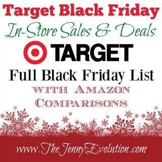 TARGET BLACK FRIDAY DEASL!!! Are you gearing up for Black Friday? Today I'm sharing the full Target's Black Friday Deals In-Store Sales List and offering AMAZON PRICE Comparisons, too!