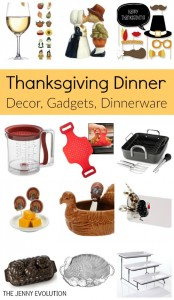 Thanksgiving Dinner Items - Table Decor, Gadgets, Dinnerware, Serving Ware, Supplies & More! on The Jenny Evolution