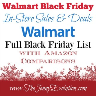 Walmart Black Friday Sales List with Amazon Price Comparisons | The Jenny Evolution