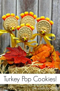 Your kids are going to FLIP over this Thanksgiving Turkey Cookie Pops Tutorial | The Jenny Evolution