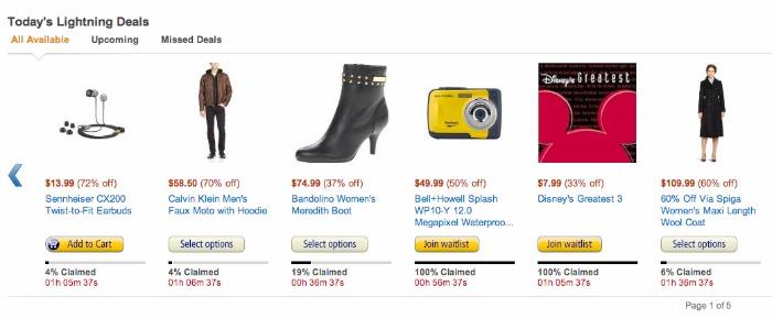 Lightning Deals on Amazon