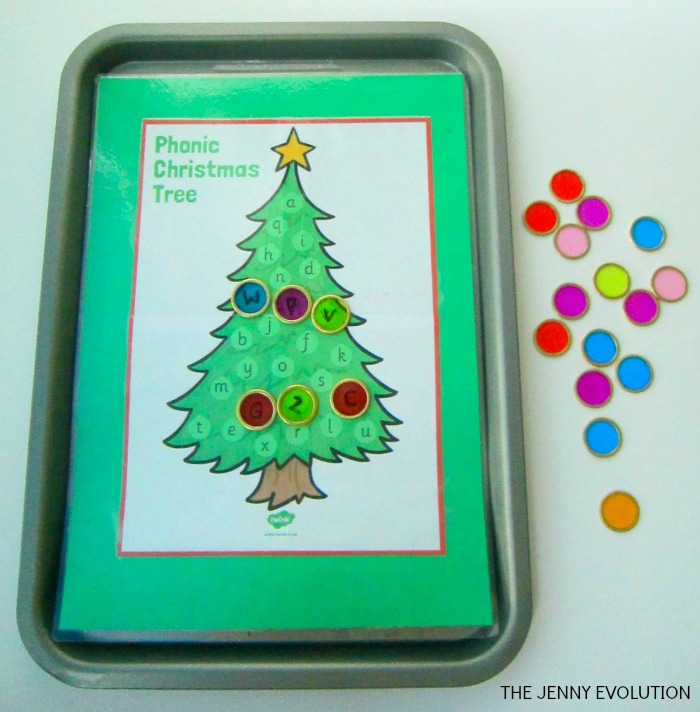 Alphabet match Christmas Tree