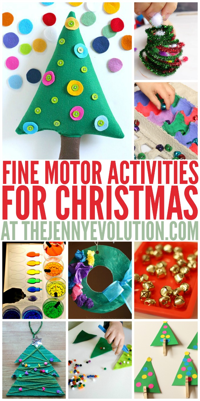 christmas fine motor activities the jenny evolution. Black Bedroom Furniture Sets. Home Design Ideas