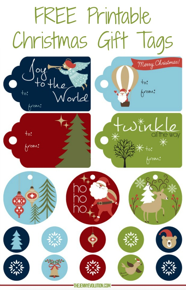 FREE Printable Christmas Gift Tags | Mommy Evolution