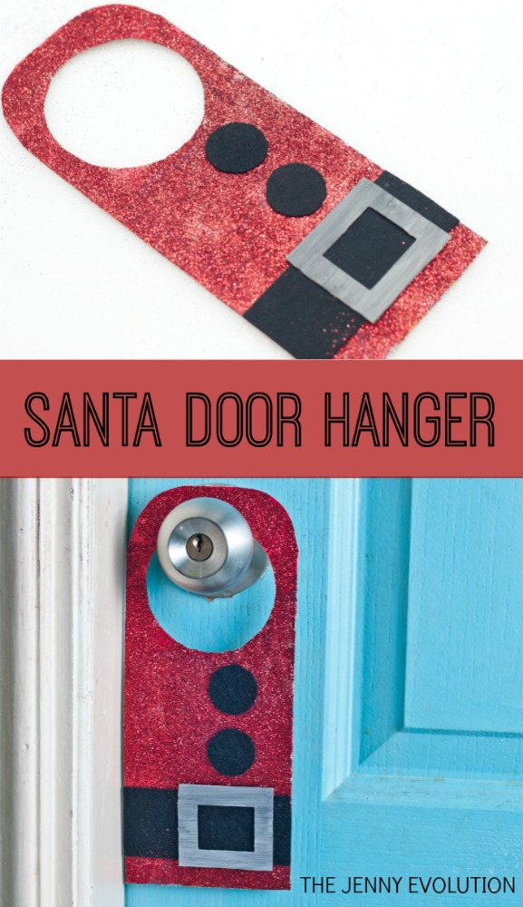 Santa Claus Door Hanger Craft | Mommy Evolution