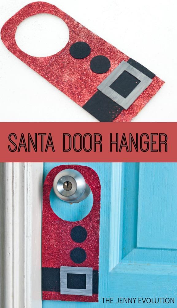 Santa Claus Door Hanger Craft | The Jenny Evolution