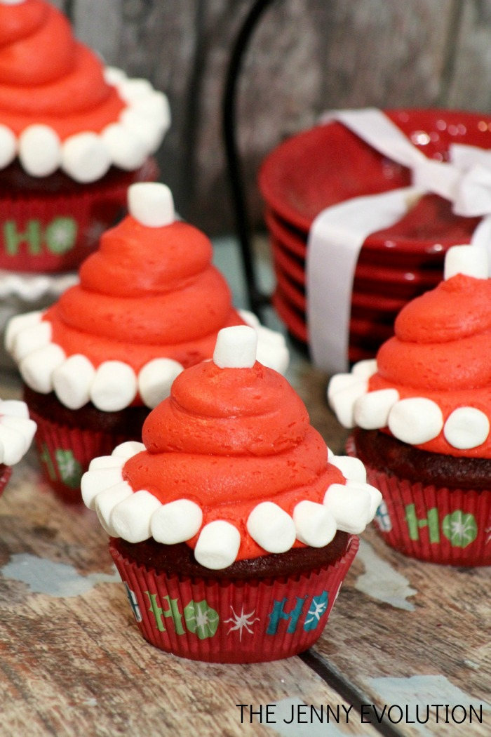 Santa Hat Tutorial and Cupcake Recipe | The Jenny Evolution