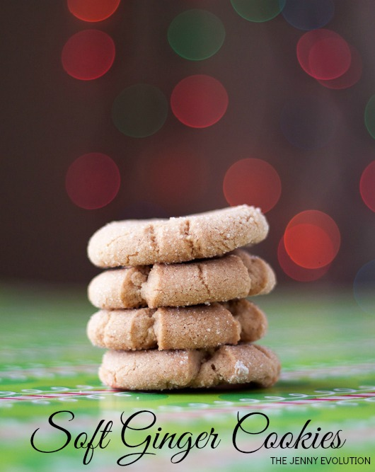 Soft Ginger Cookies Recipe - Perfect for Christmas baking! on The Jenny Evolution