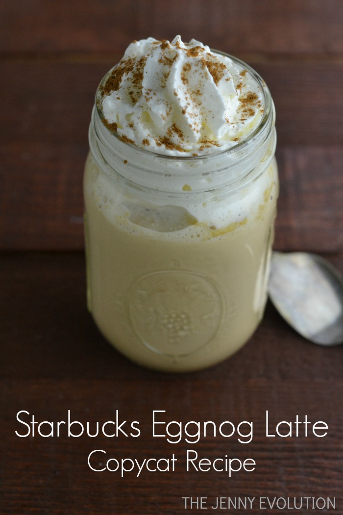 Starbucks Eggnog Latte Copycat Recipe on The Jenny Evolution