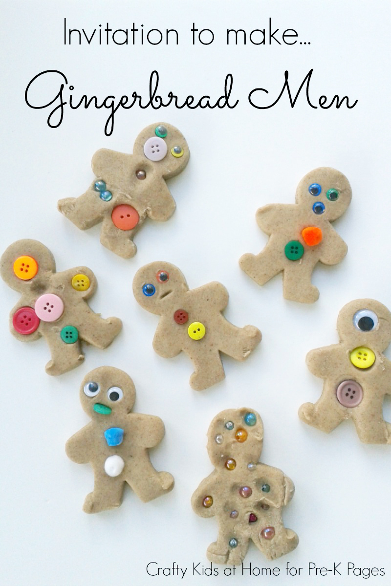 Gingerbread Men Playdough Activity