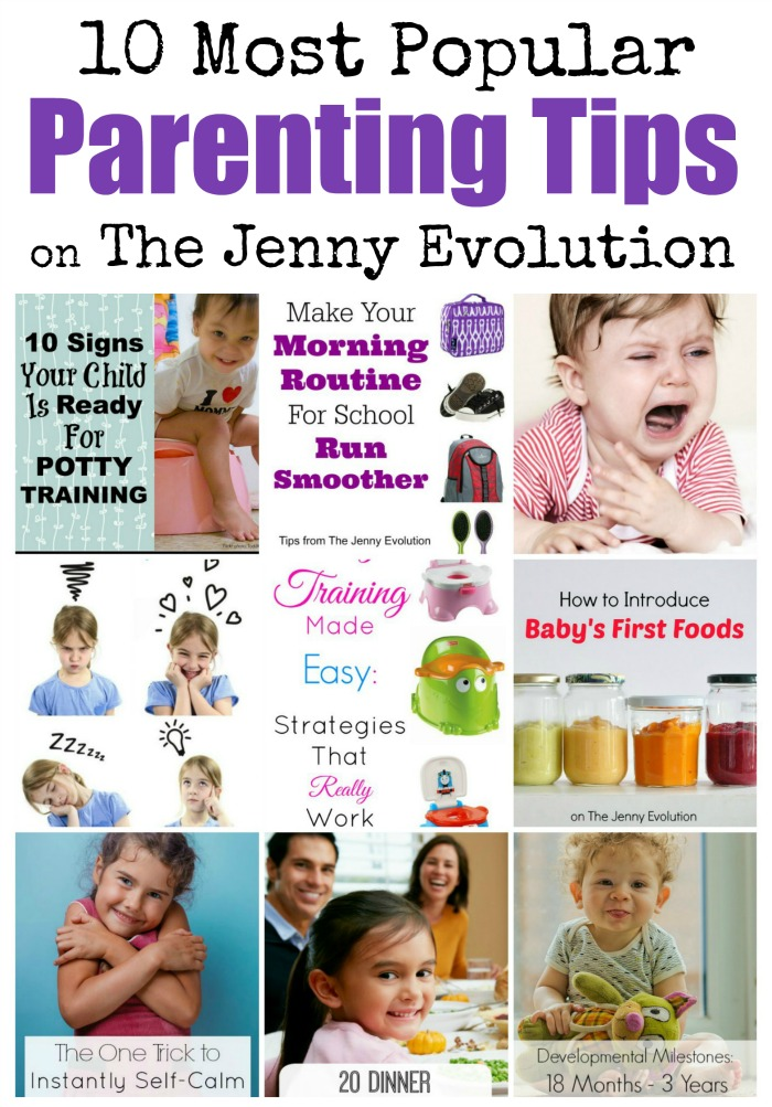 10 Most Popular Parenting Tips and Advice on The Jenny Evolution