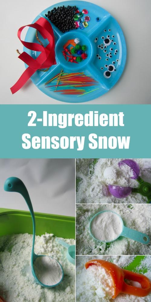 2 Ingredient Sensory Snow - Invitation to Play