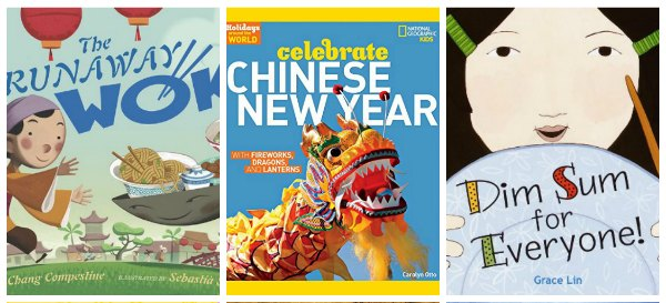 Chinese new year books - the runaway wok; celebrate Chinese new year and dim sum for everyone