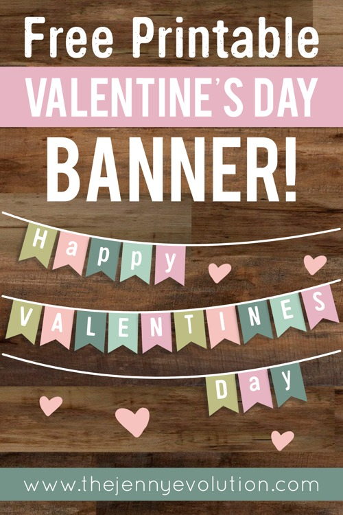 photograph relating to Happy Valentines Day Banner Printable titled Valentine Dwelling Decor Banner Free of charge Printable