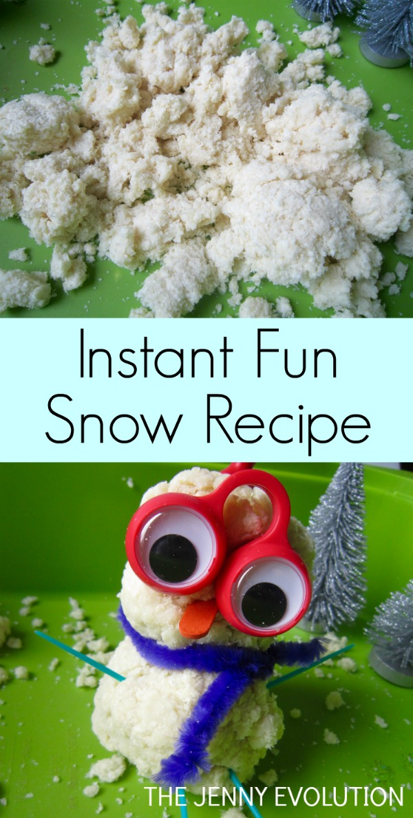 Instant Fun Sensory Snow Recipe - Just ONE Ingredient and Gluten Free!