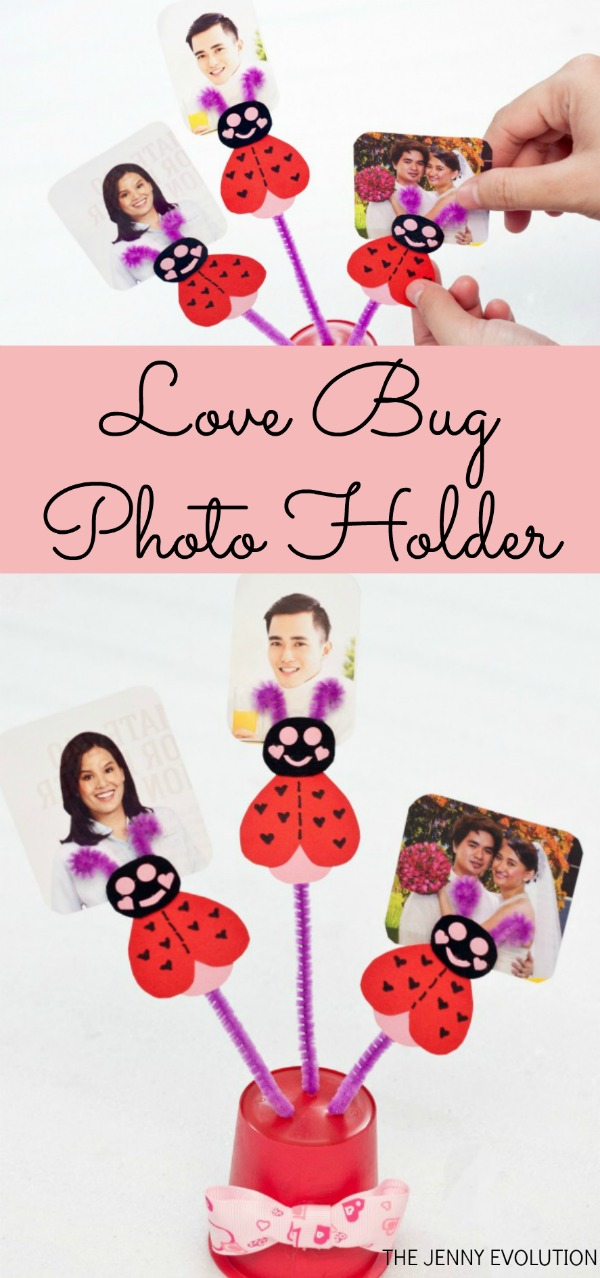 Love Bug Valentine Photo Holder