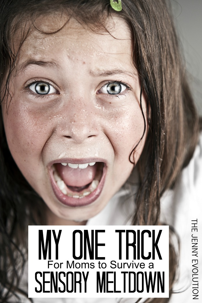My One Trick for Moms to Survive a Sensory Meltdown | The Jenny Evolution