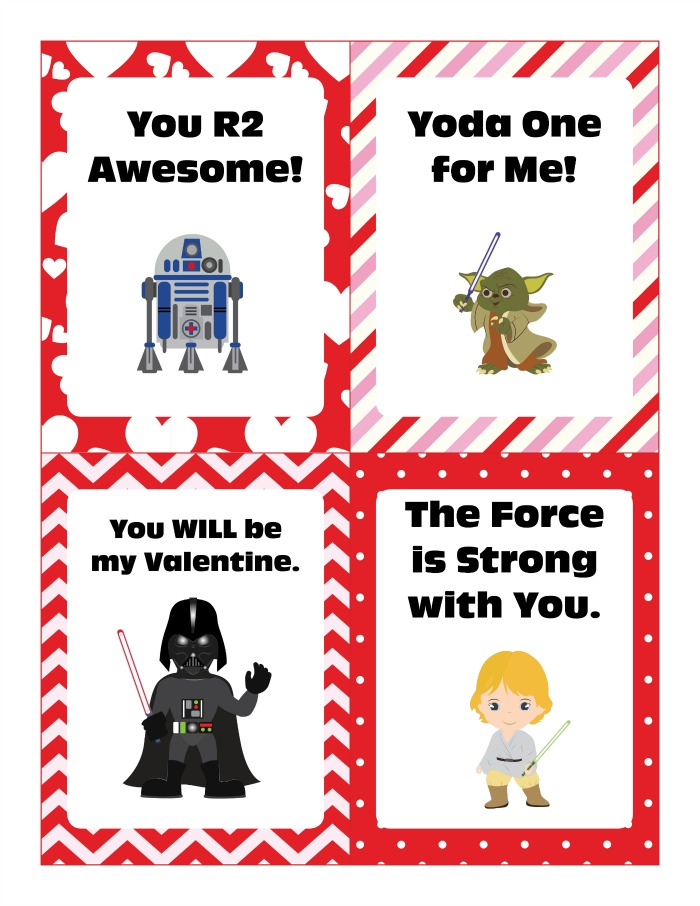 picture regarding Star Wars Printable Cards named Star Wars Valentine Playing cards No cost Printable Mommy Evolution