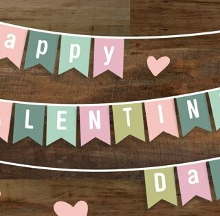 Valentine Home Decor Banner Free Printable