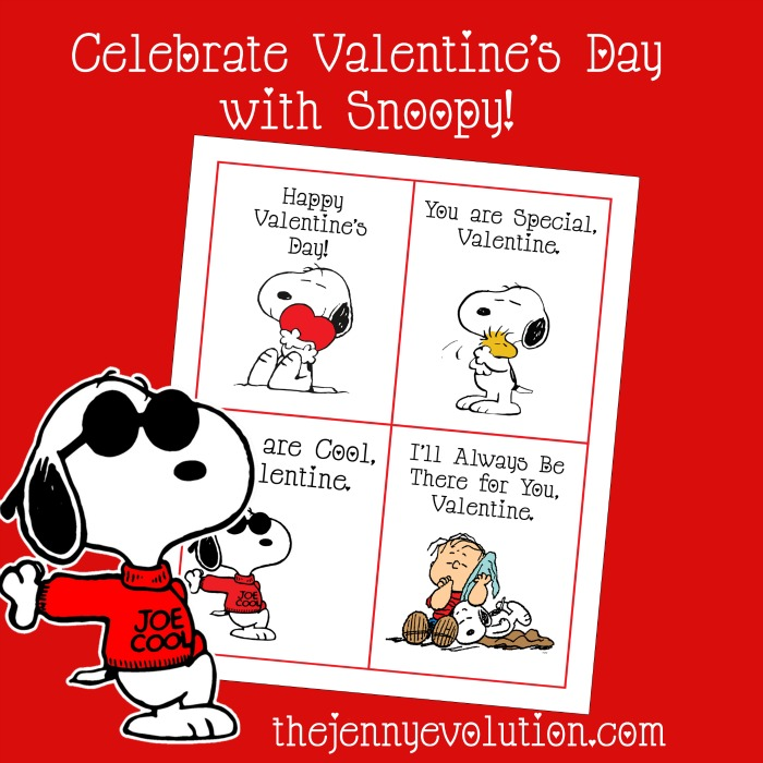 FREE Printable Snoopy Peanuts Valentine Day Cards | Mommy Evolution