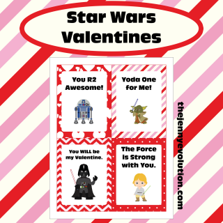 Free Printable Star Wars Valentine Cards | The Jenny Evolution