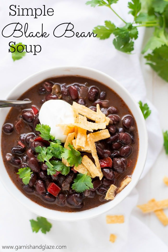 Simple Black Bean Soup Recipe from Penny Lane