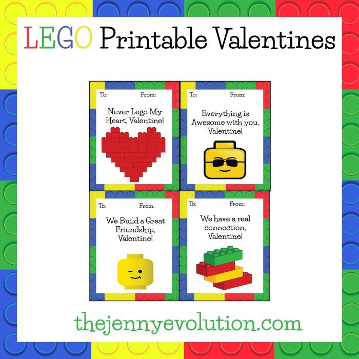 Lego Free Printable Valentine Printables