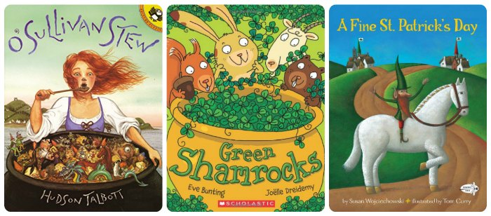 st. patrick day picture books - o'sulivan stew; green shamrocks; a fine st. patrick's day