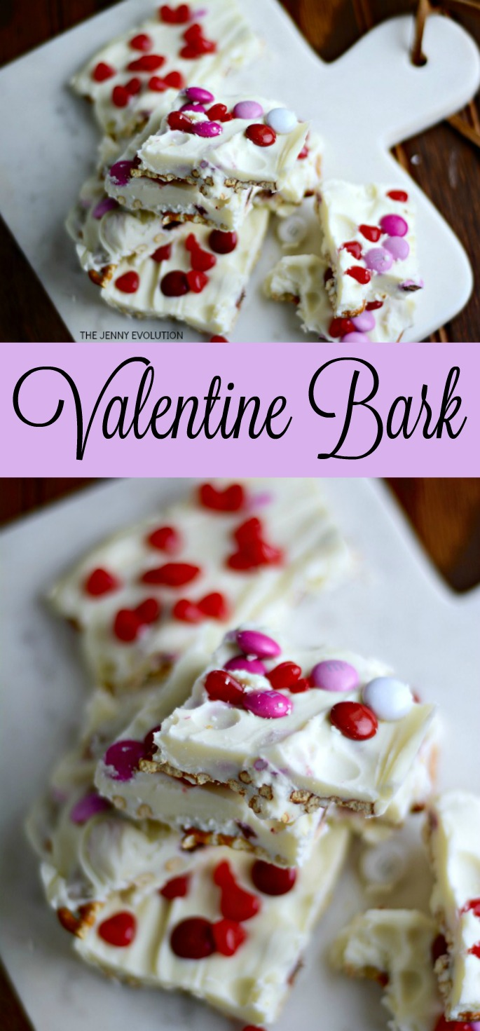 Valentine Bark with a Twist - Red Hots and Pretzels