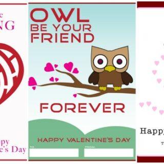 3 Delightful FREE Valentine Cards
